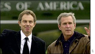 Tony Blair with George Bush
