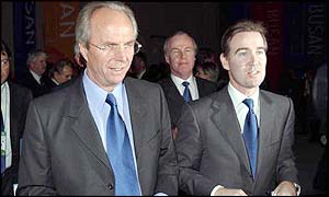 FA chief executive Adam Crozier and England manager Sven-Goran Eriksson