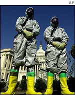 Anthrax clean-up team in Washington