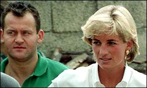 Paul Burrell and Diana, Princess of Wales