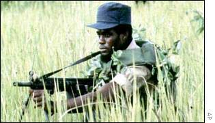 Unita rebel in Angola
