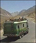 The road to the Salang Tunnel