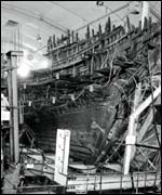 Mary Rose, black and white picture