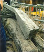 sections of ship's hull