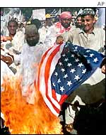 Anti-US protesters in Pakistan
