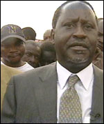 Raila Odinga; the MP for the Kibera Slum