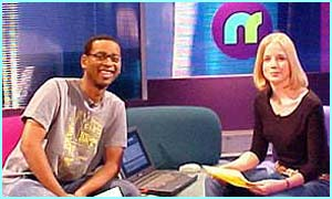 Newsround's Lizo and Becky