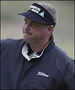 Darren Clarke recorded a second round 74