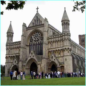 The wedding between Enders star Jack and ex-Hear'Say pop diva Kym took place at St Albans Cathedral in Hertfordshire