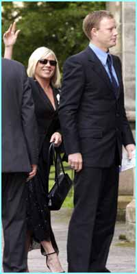 Stars Letitia Dean and Ricky Groves, better known as Sharon and Gary, turned up.