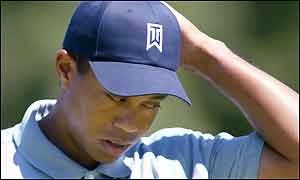 Tiger Woods during the third round of the Buick Open in Michigan