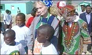 Mia Farrow in Angola