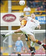 Wolves' Ivar Ingimarsson and Bradford's Paul Evans