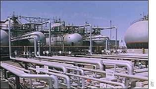 Aramco oil refinery in Saudi Arabia
