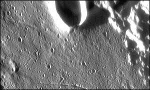 The rim of the lunar crater Taruntius (European Southern Observatory)