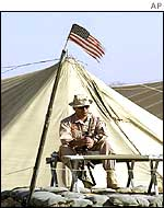 US soldier at Bagram airbase