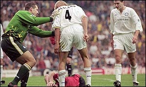 Keane missed the rest of the 1997-98 season after his tackle on Haaland