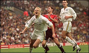 Keane fouled Haaland in Man Utd's game at Leeds in 1997 but came off worse