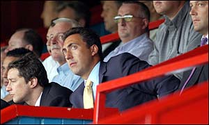 Wimbledon chairman Charles Koppel in the Selhurst Park stands