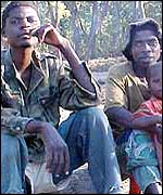 Unita rebel soldiers