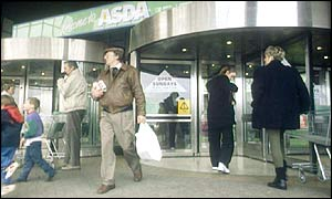 Shoppers at Asda
