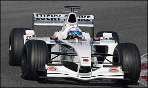 Anthony Davidson in testing for BAR