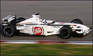 Anthony Davidson testing for BAR