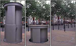 Disappearing toilet, Westminster City Council photo