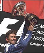Damon Hill achieved a somewhat freak second place in Hungary in 1997