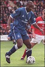 Dele Adebola in action for Birmingham