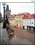 Historic buildings near the Charles bridge