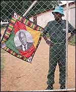Mugabe flag on farm