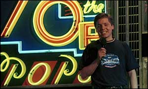 Mark Goodier presenting Top of the Pops in 1988