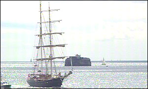 Italian naval ketch Orsa Maggiore arrives in Portsmouth
