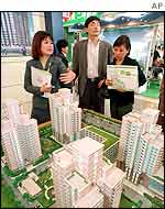 Prospective homebuyers in Beijing