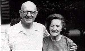 PG Wodehouse and his wife Edith