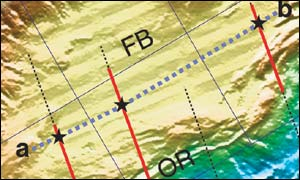 Map of newly-discovered fault, Science