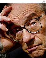 Federal Reserve Chairman Alan Greenspan hinted he might reduce interest rates in July but has yet to do so.