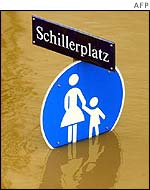 Roadsign at Schillerplatz in Dresden