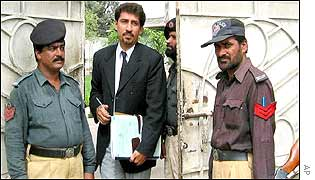 Raza Ali Abidi, defence lawyer for one of the accused leaves the court