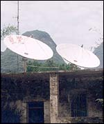 Satellite TV dishes