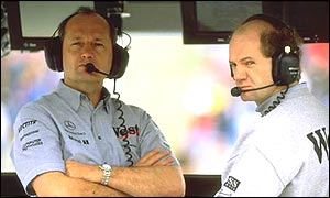 McLaren boss Ron Dennis and technical director Adrian Newey
