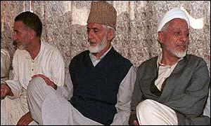 Prominent leaders of the Hurriyat Conference at a meeting