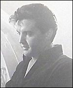 Elvis in a still from the film