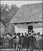 A Library of Congress photo depicts Southern slave life