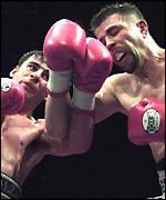 Joe Calzaghe and Miguel Jimenez