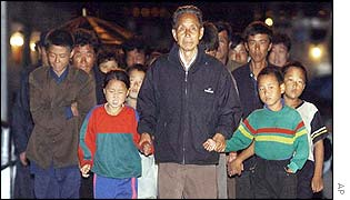 The alleged asylum seekers arrive in Incheon