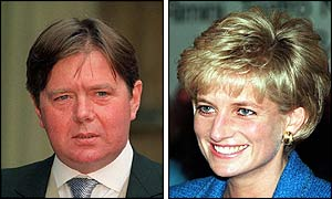 Ken Wharfe and the late Princess Diana
