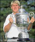 John Daly wins the USPGA championship in 1991