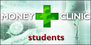 Green cross on a background of money